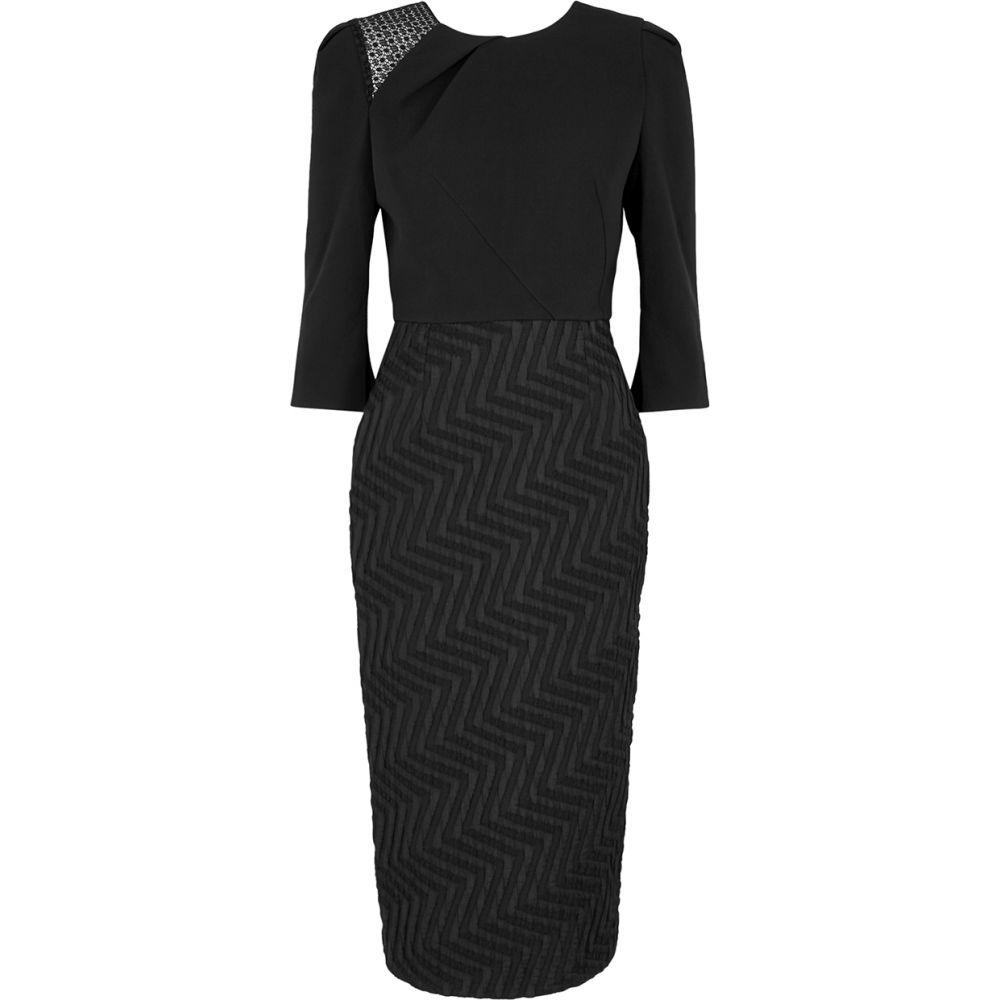 ローラン ムレ Roland Mouret レディース ワンピース ワンピース・ドレス【Palatine Black Jacquard Dress】Black
