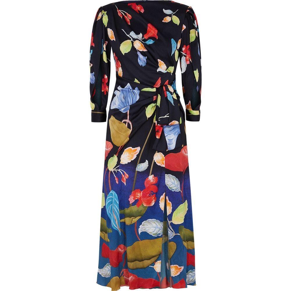 ピーター ピロット Peter Pilotto レディース ワンピース ミドル丈 ワンピース・ドレス【Floral-Print Stretch-Silk Midi Dress】Black