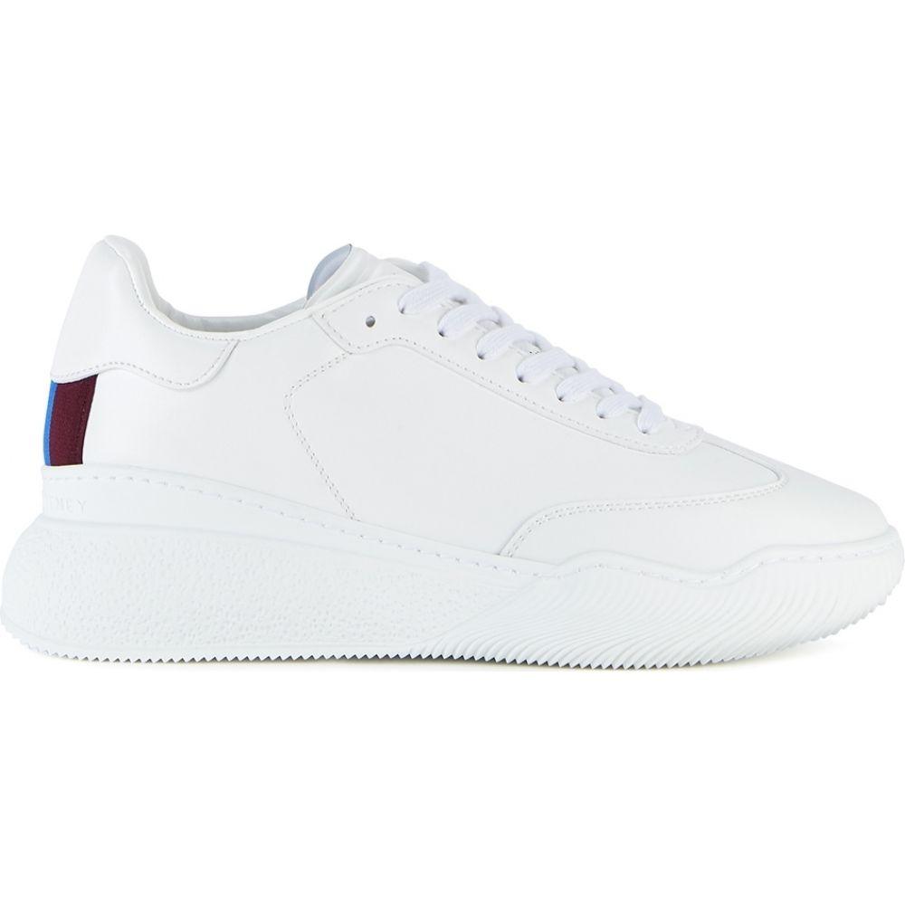 ステラ マッカートニー Stella McCartney レディース スニーカー シューズ・靴【New Loop White Faux Leather Sneakers】White