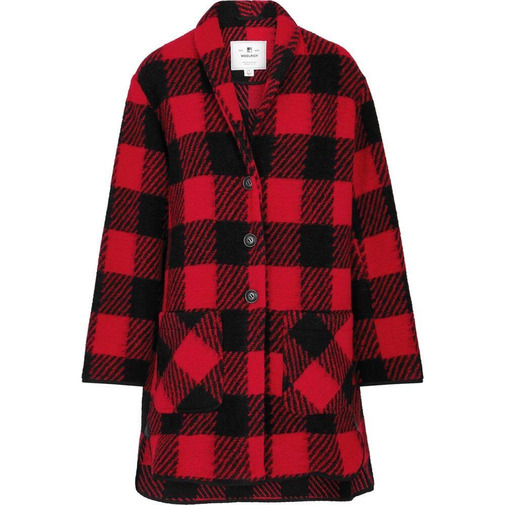 ウールリッチ Woolrich レディース ジャケット アウター【Checked Knitted Jacket】Red