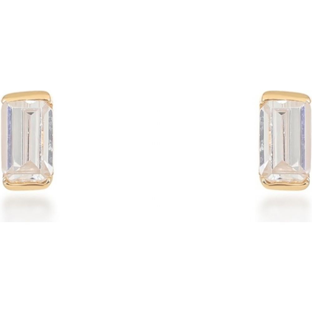V ローラヴァン V by Laura Vann レディース イヤリング・ピアス ジュエリー・アクセサリー【Allegra 18Kt Gold-Plated Stud Earrings】Silver