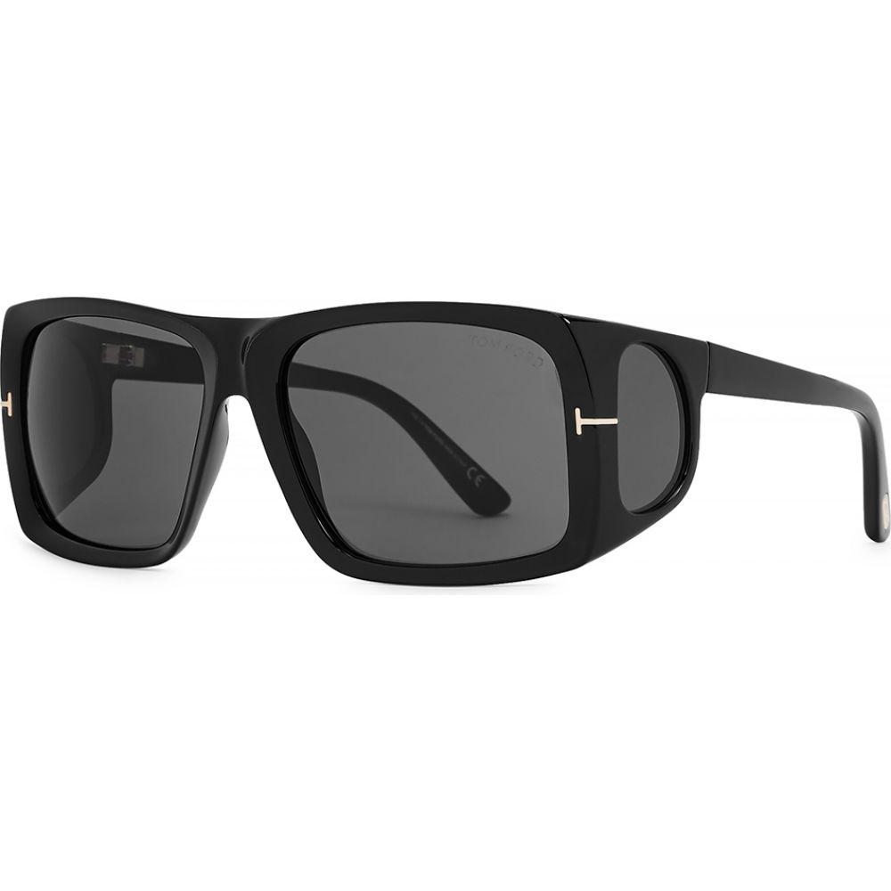 トム フォード Tom Ford Eyewear レディース メガネ・サングラス スクエアフレーム【Rizzo Black Square-Frame Sunglasses】Black