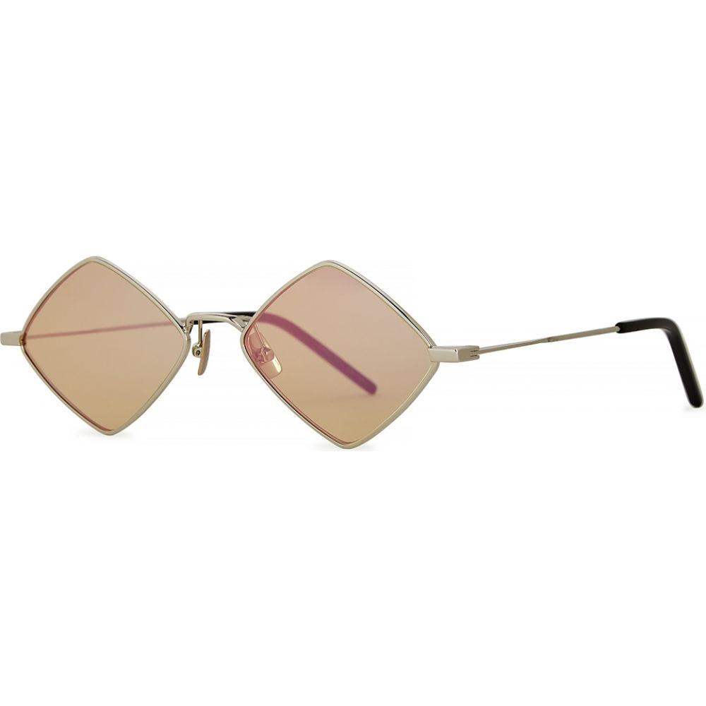 イヴ サンローラン Saint Laurent レディース メガネ・サングラス 【Lisa Diamond-Frame Sunglasses】Silver
