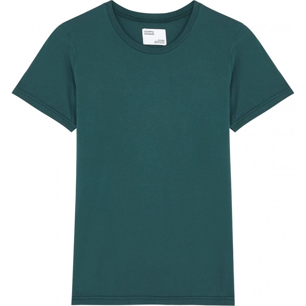 カラフルスタンダード COLORFUL STANDARD レディース Tシャツ トップス【Dark Teal Cotton T-Shirt】Green