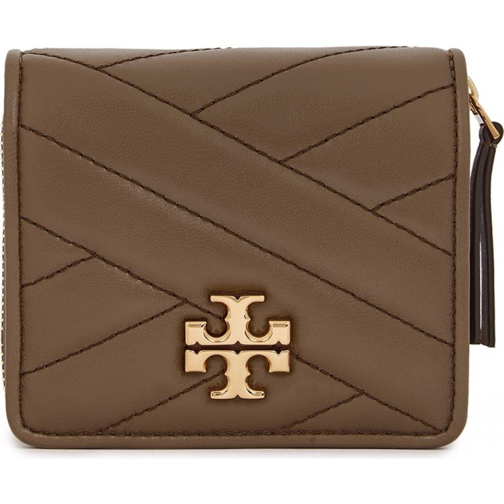 トリー バーチ Tory Burch レディース 財布 【Kira Taupe Leather Wallet】Natural