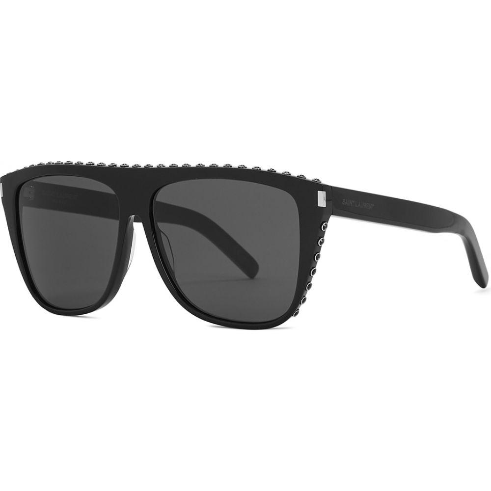 イヴ サンローラン Saint Laurent レディース メガネ・サングラス 【Sl1 Studded D-Frame Sunglasses】Black