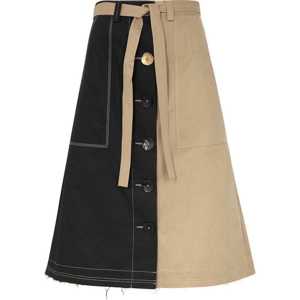 ユードン チョイ Eudon Choi レディース ひざ丈スカート スカート【Manet Panelled Twill Midi Skirt】Black