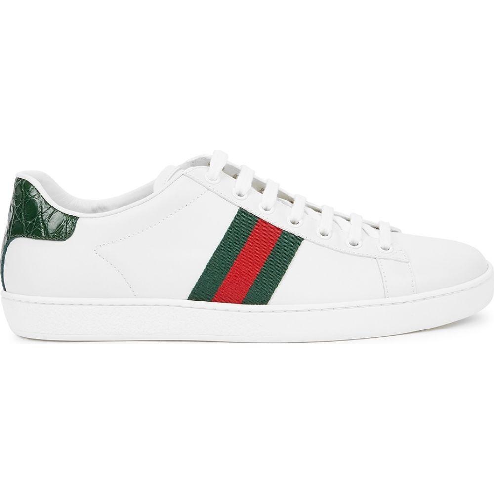 グッチ Gucci レディース スニーカー シューズ・靴【New Ace White Leather Sneakers】White