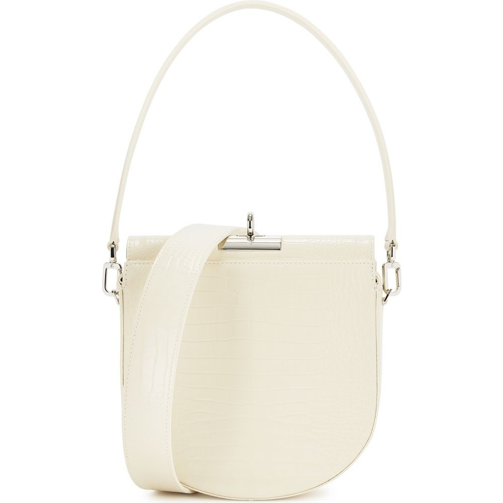 Gu_de レディース ショルダーバッグ バッグ【Demilune Ivory Leather Saddle Bag】Natural