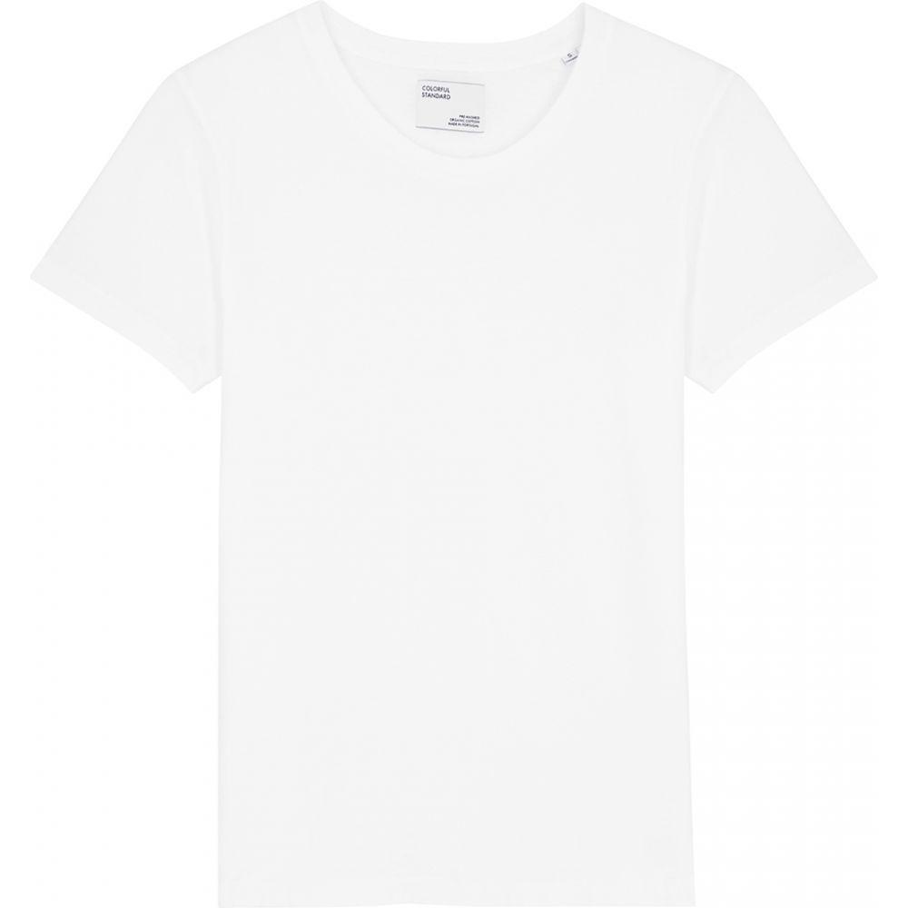 カラフルスタンダード COLORFUL STANDARD レディース Tシャツ トップス【White Cotton T-Shirt】White