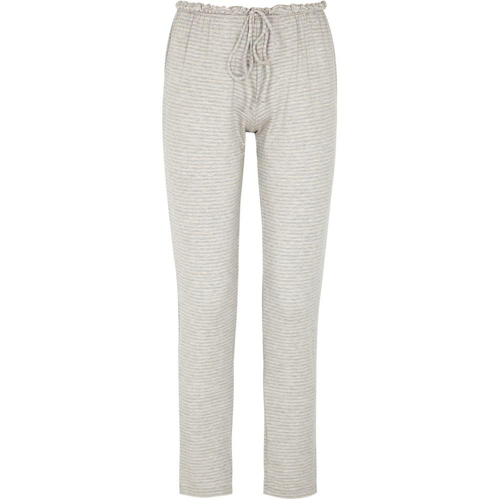 エバージェイ Eberjey レディース パジャマ・ボトムのみ インナー・下着【Sadie Striped Jersey Pyjama Trousers】Grey