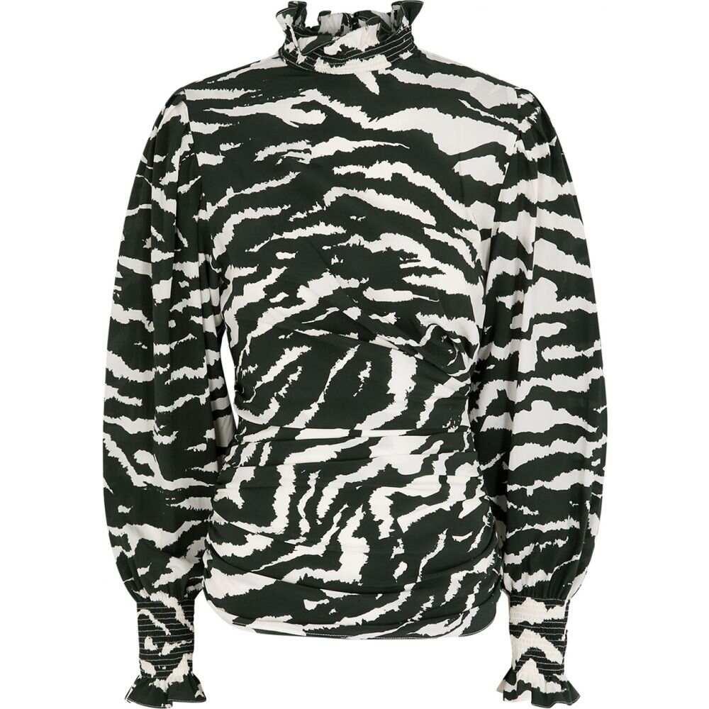 イザベル マラン Isabel Marant レディース ブラウス・シャツ トップス【Fantine Printed Silk-Blend Blouse】Black