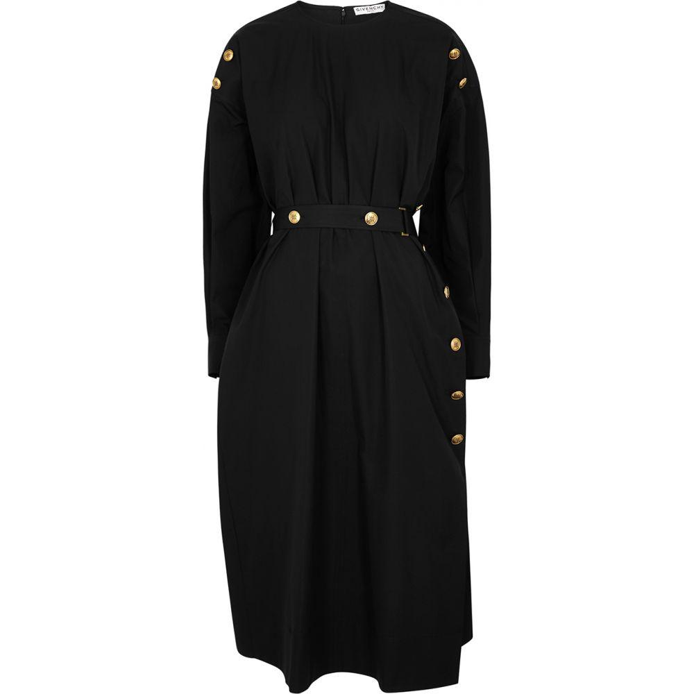ジバンシー Givenchy レディース ワンピース ミドル丈 ワンピース・ドレス【Black Belted Cotton Midi Dress】Black