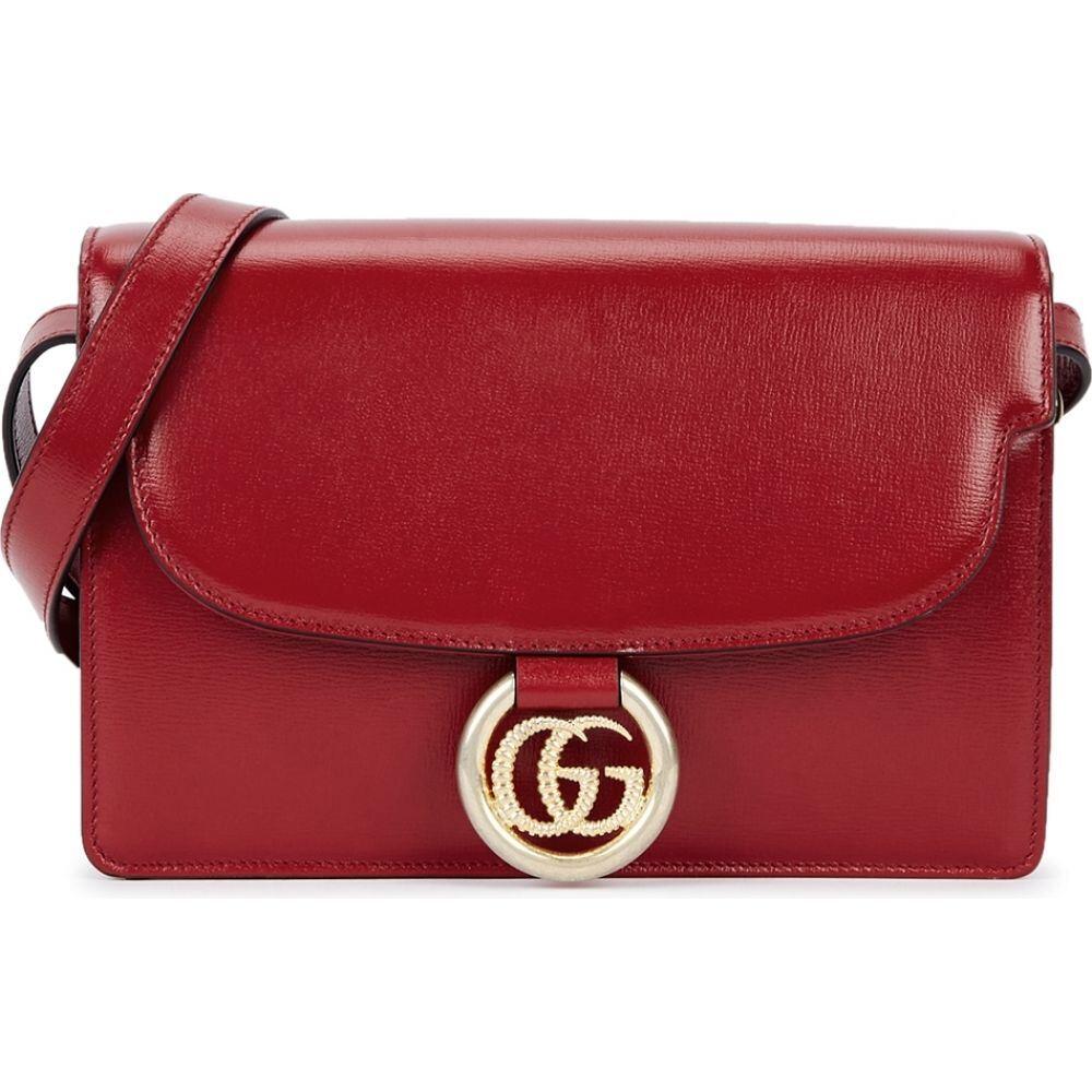 グッチ Gucci レディース ショルダーバッグ バッグ【Gg Ring Small Leather Cross-Body Bag】Red