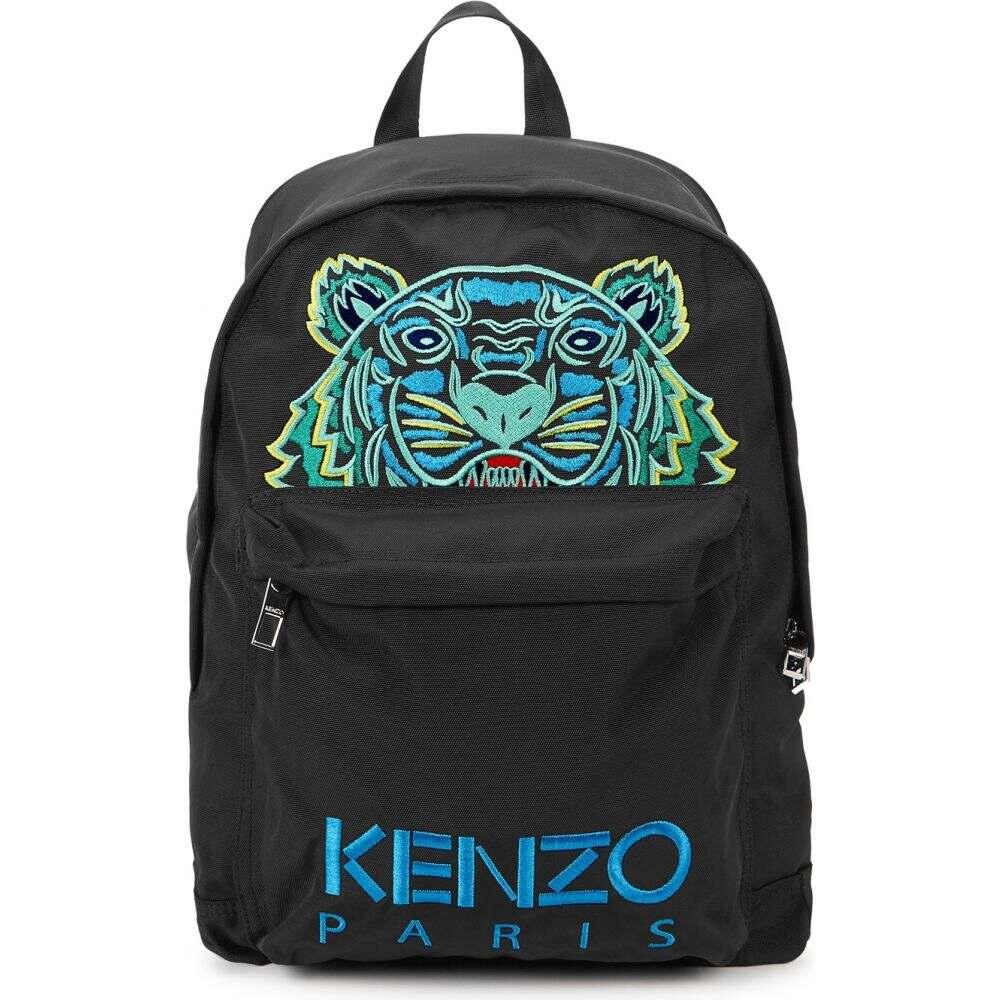 ケンゾー Kenzo レディース バックパック・リュック バッグ【Kampus Logo-Embroidered Nylon Backpack】Black