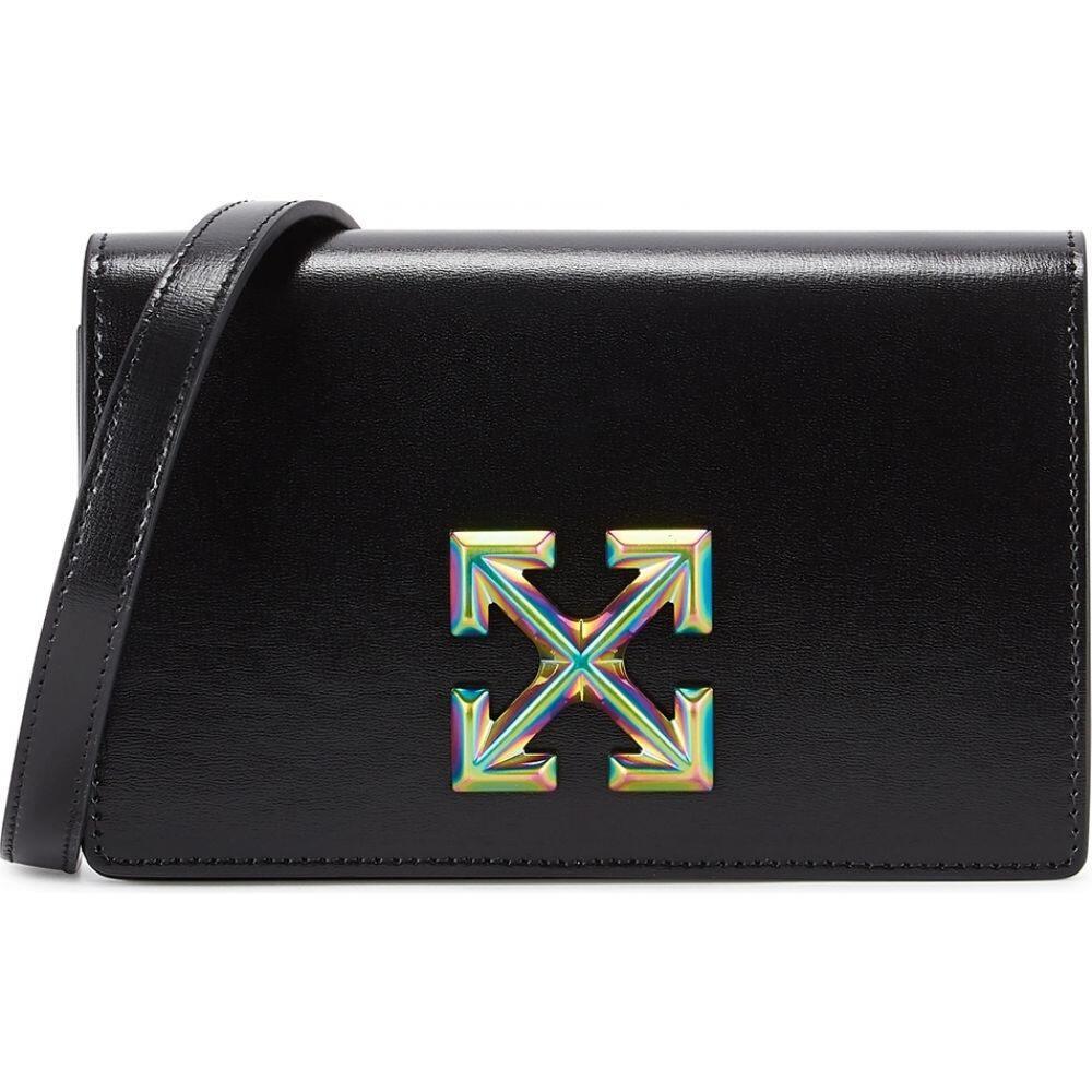 オフホワイト Off-White レディース ショルダーバッグ バッグ【0.5 Jitney Black Leather Shoulder Bag】Black