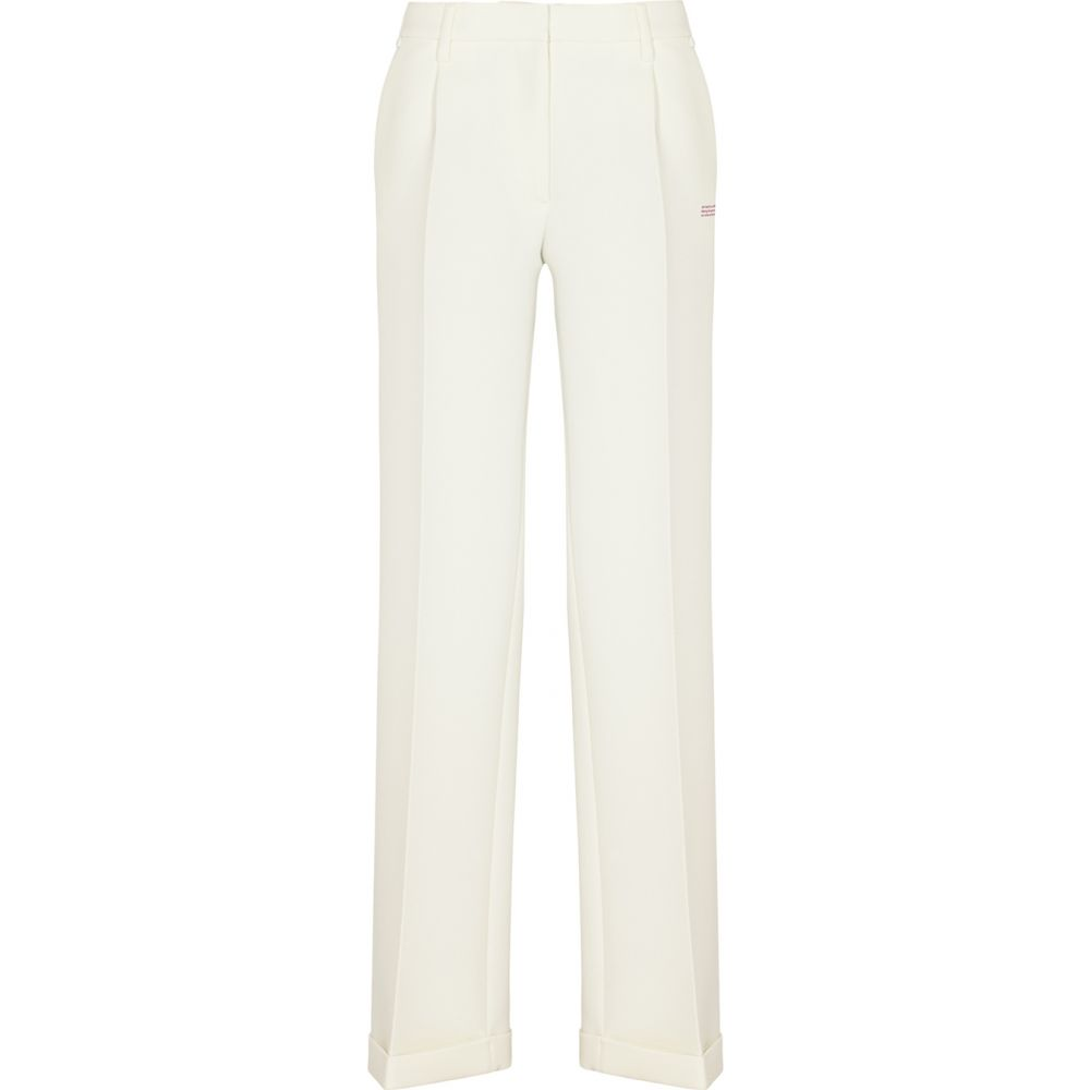 オフホワイト Off-White レディース ボトムス・パンツ 【White Straight-Leg Trousers】White