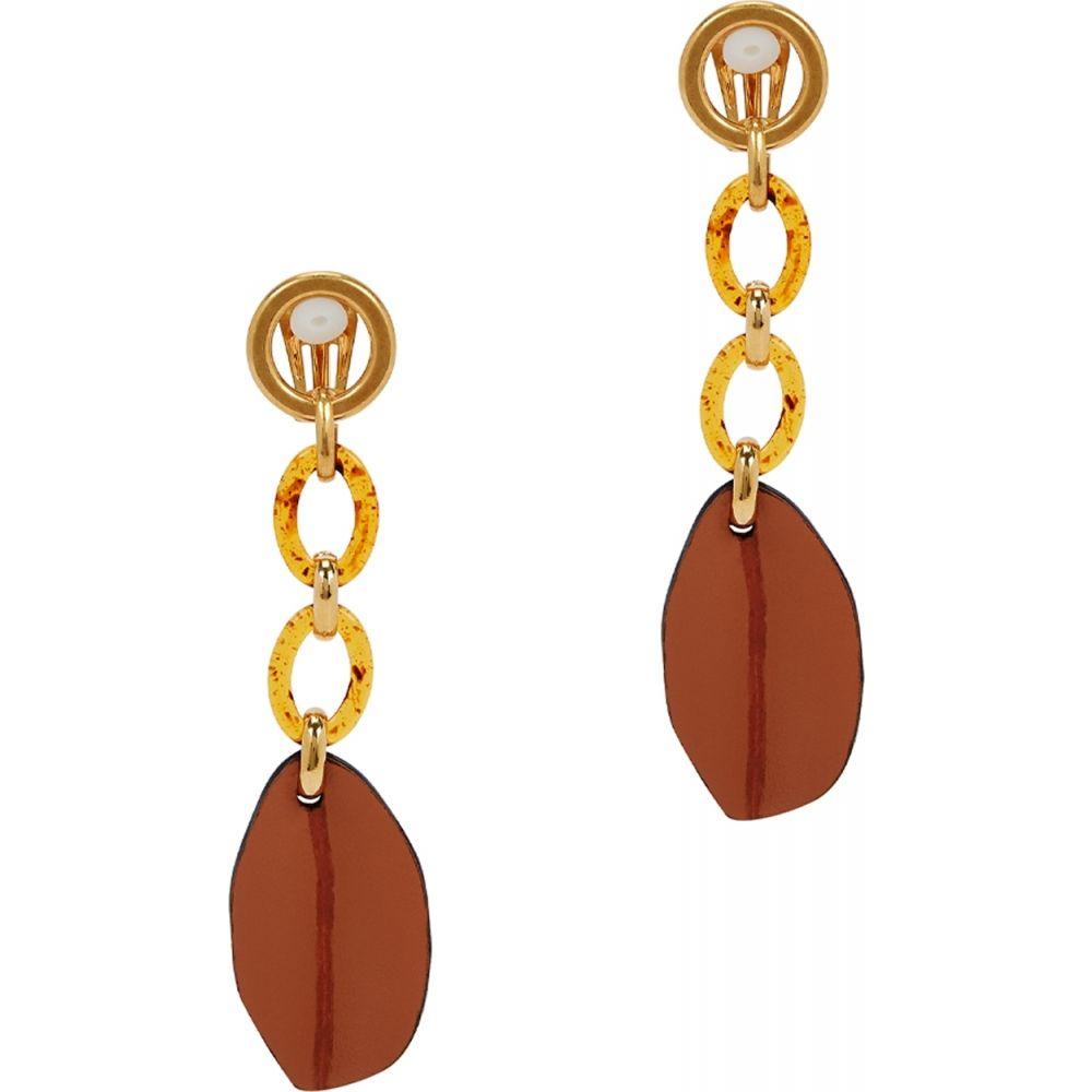 マルニ Marni レディース イヤリング・ピアス ジュエリー・アクセサリー【Gold-Tone Leaf Clip-On Earrings】Brown