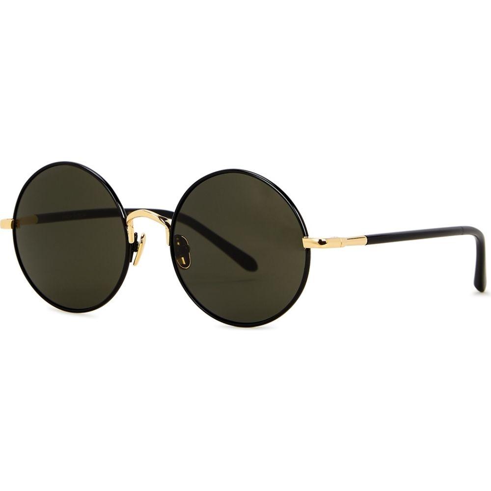 リンダ ファロー Linda Farrow Luxe レディース メガネ・サングラス ラウンド【Welch Black Round-Frame Sunglasses】Black