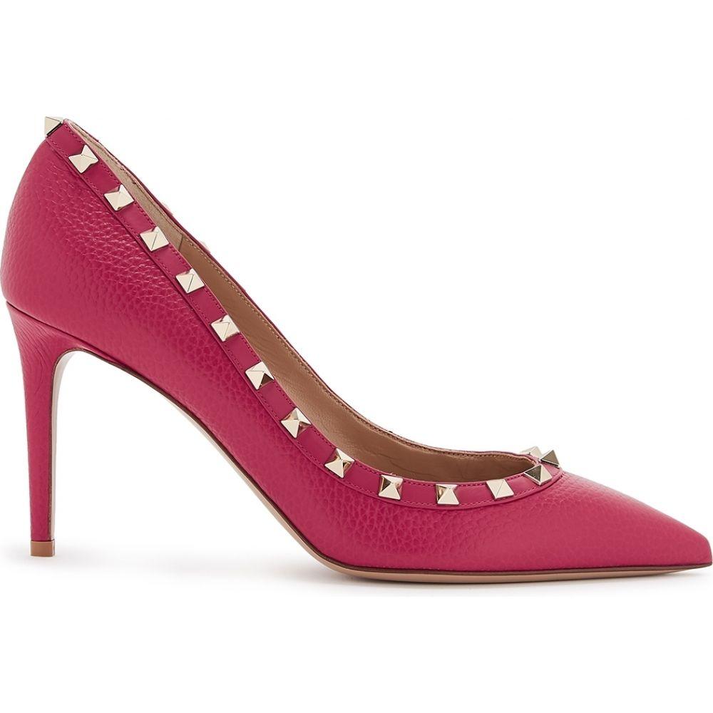 ヴァレンティノ Valentino レディース パンプス シューズ・靴【Garavani Rockstud 85 Raspberry Leather Pumps】Pink