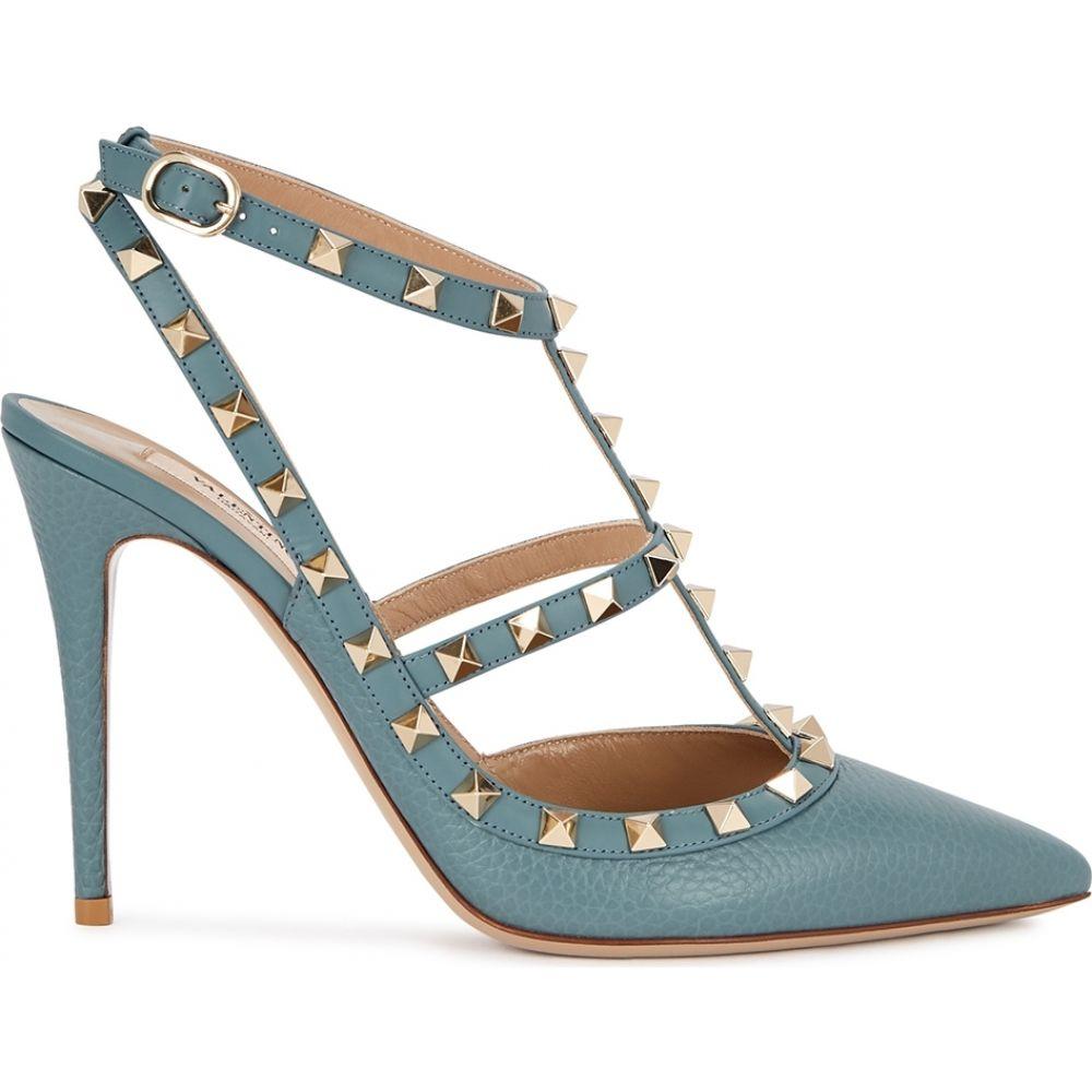 ヴァレンティノ Valentino レディース パンプス シューズ・靴【Garavani Rockstud 100 Blue Grained Leather Pumps】Blue