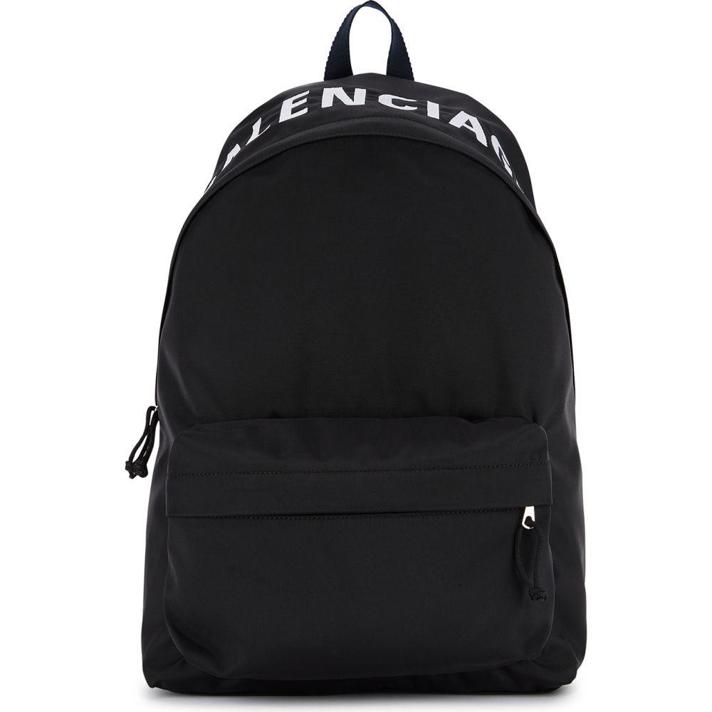 バレンシアガ Balenciaga メンズ バックパック・リュック バッグ【Wheel Black Logo Nylon Backpack】Black