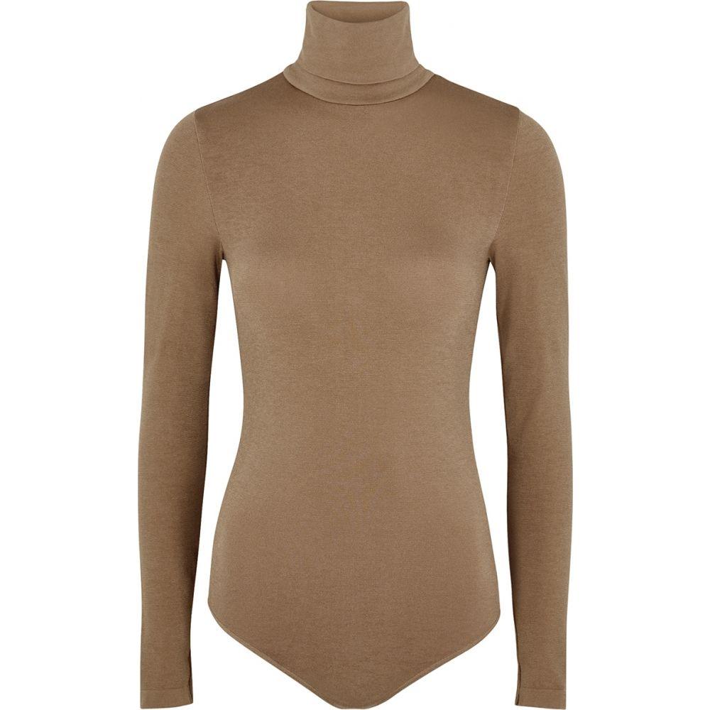 ウォルフォード Wolford レディース ボディースーツ インナー・下着【Colorado Brown Cotton-Blend Bodysuit】Brown