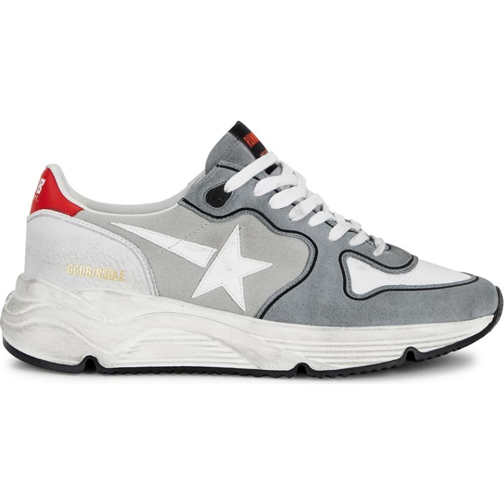 ゴールデン グース Golden Goose Deluxe Brand メンズ ランニング・ウォーキング スニーカー シューズ・靴【Running Sole Distressed Suede Sneakers】Grey