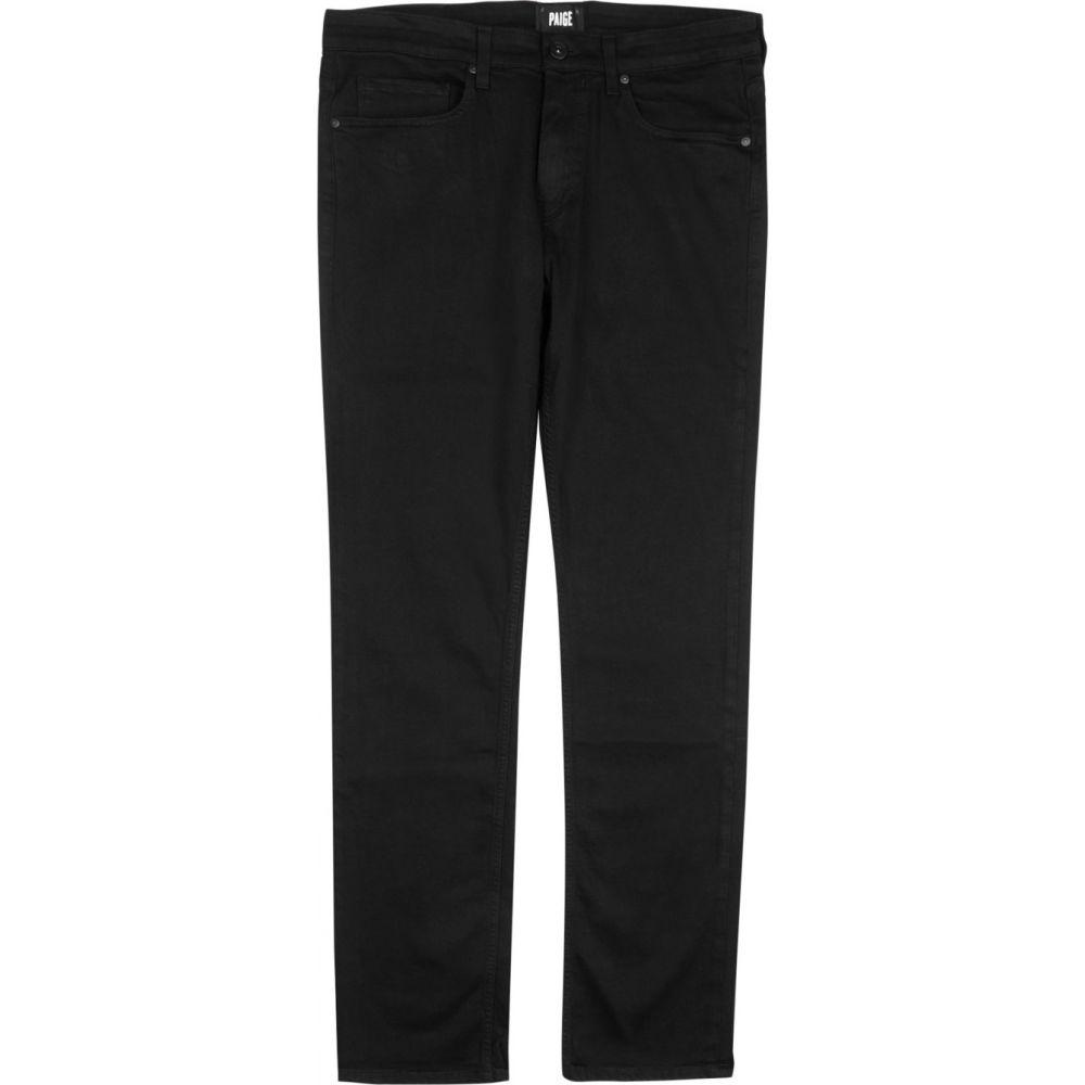 ペイジ Paige メンズ ジーンズ・デニム ボトムス・パンツ【Federal Transcend Straight-Leg Jeans】Black