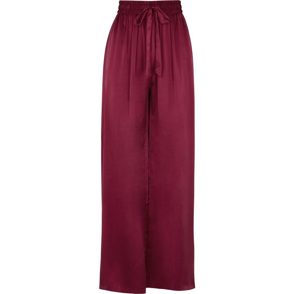 ジマーマン Zimmermann レディース ボトムス・パンツ 【Berry Wide-Leg Brushed Silk Trousers】Red
