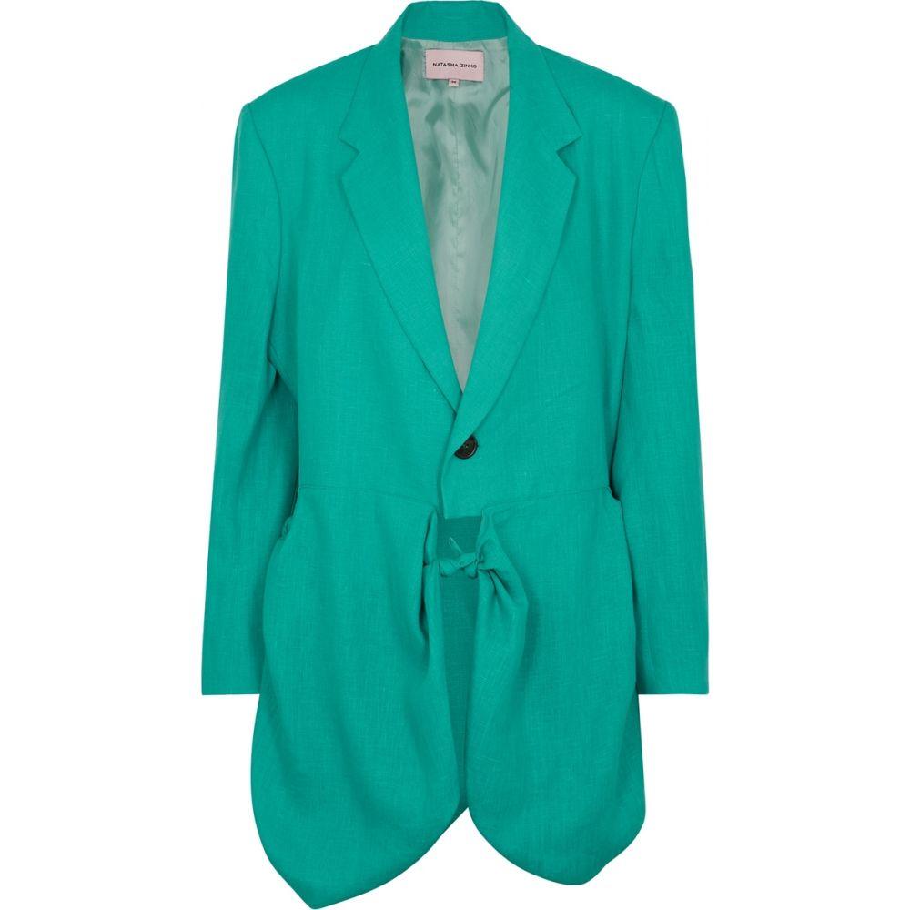 ナターシャ ジンコ Natasha Zinko レディース スーツ・ジャケット アウター【Aqua Linen Blazer】Blue