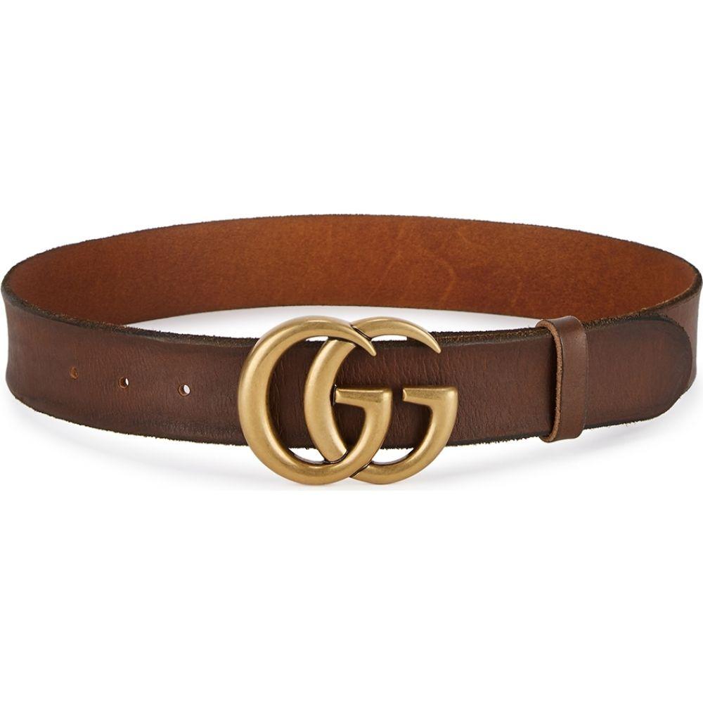 グッチ Gucci レディース ベルト 【Gg Brown Leather Belt】Brown
