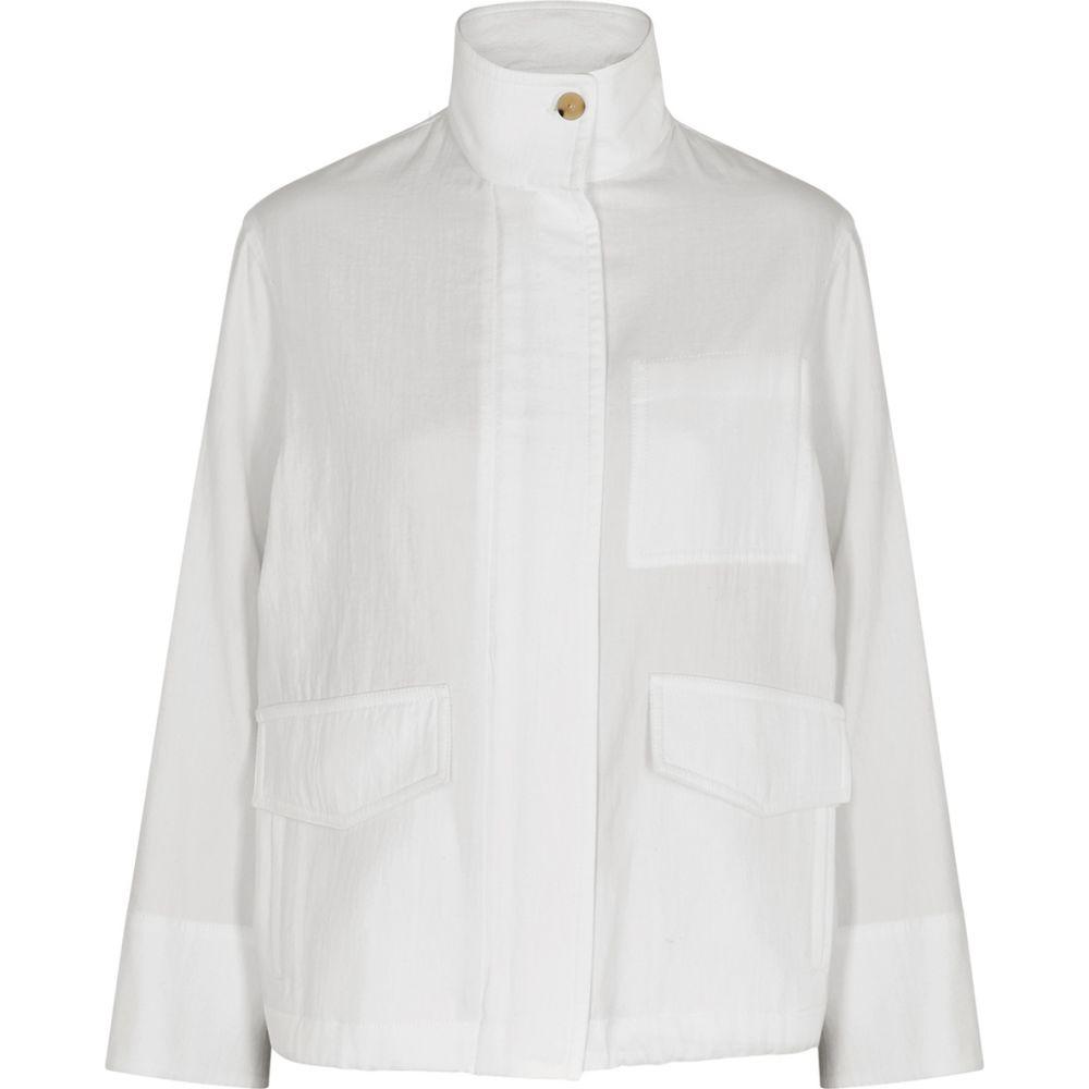 ヴィンス Vince レディース ジャケット アウター【White Cotton-Twill Jacket】White