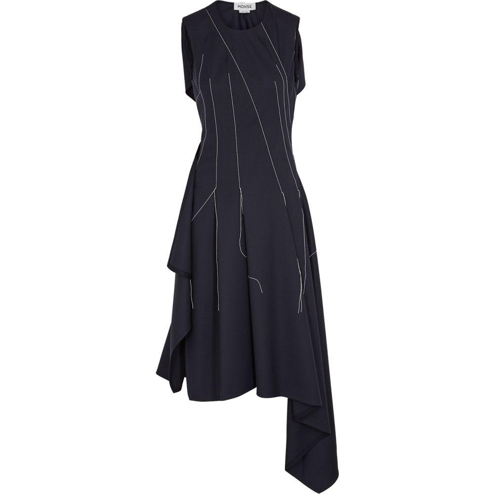 モンス MONSE レディース ワンピース ミドル丈 ワンピース・ドレス【Navy Stretch-Wool Midi Dress】Navy