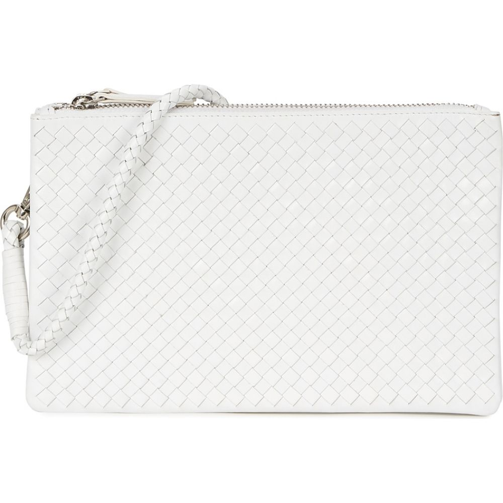 ドラゴンディフュージョン Dragon Diffusion レディース ショルダーバッグ バッグ【Interlaced White Leather Cross-Body Bag】White