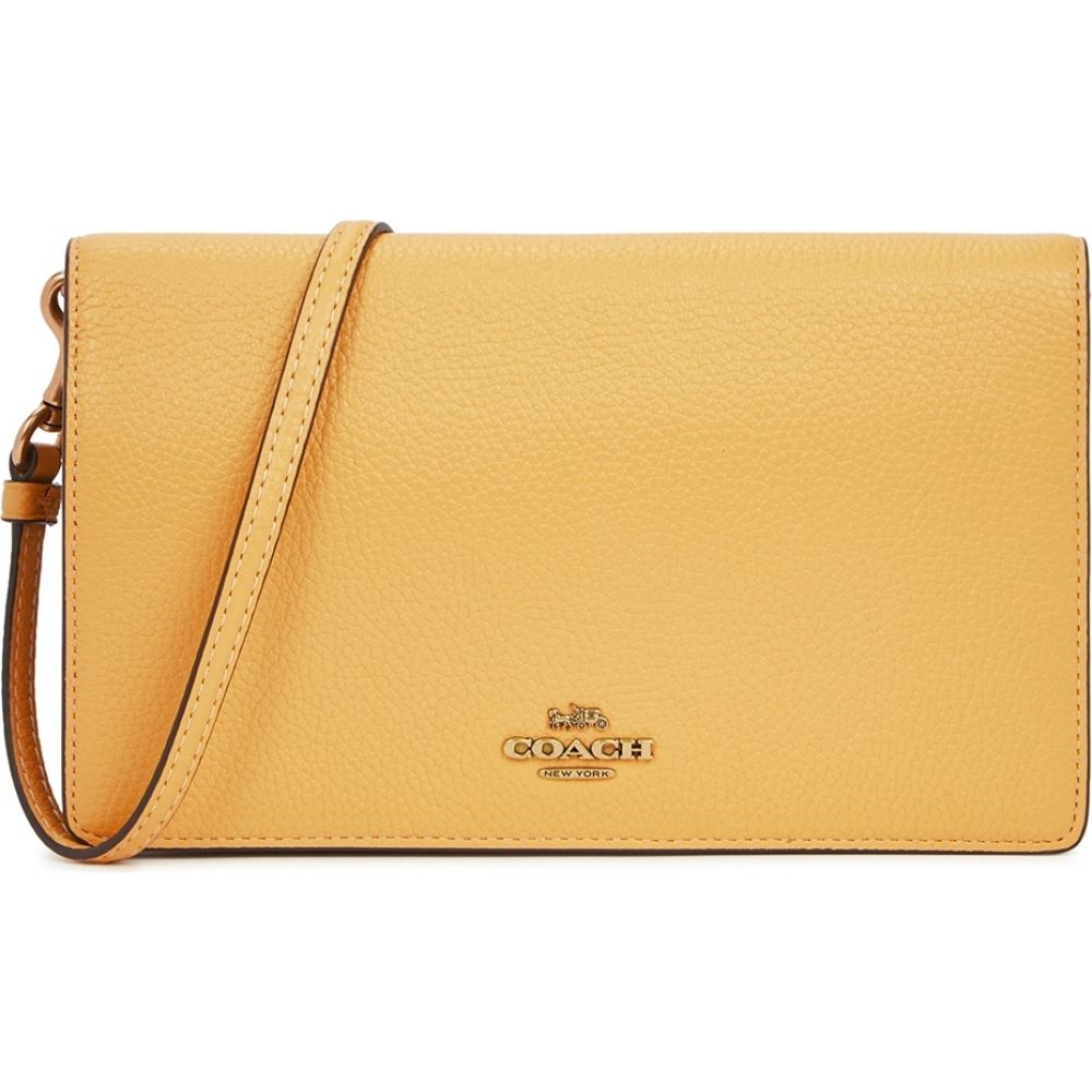 コーチ Coach レディース ショルダーバッグ バッグ【Hayden Yellow Leather Cross-Body Bag】Yellow