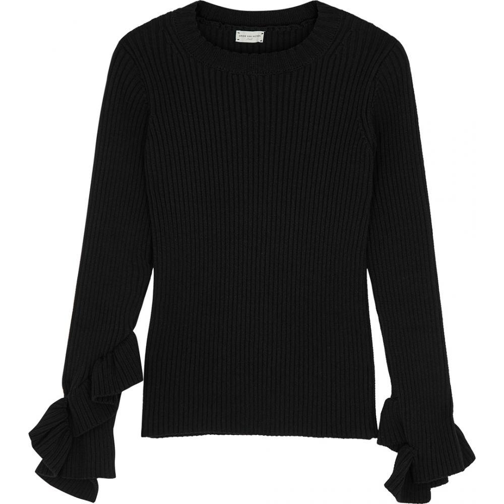 ドリス ヴァン ノッテン Dries Van Noten レディース ニット・セーター トップス【Jennie Ribbed Cotton-Blend Jumper】Black