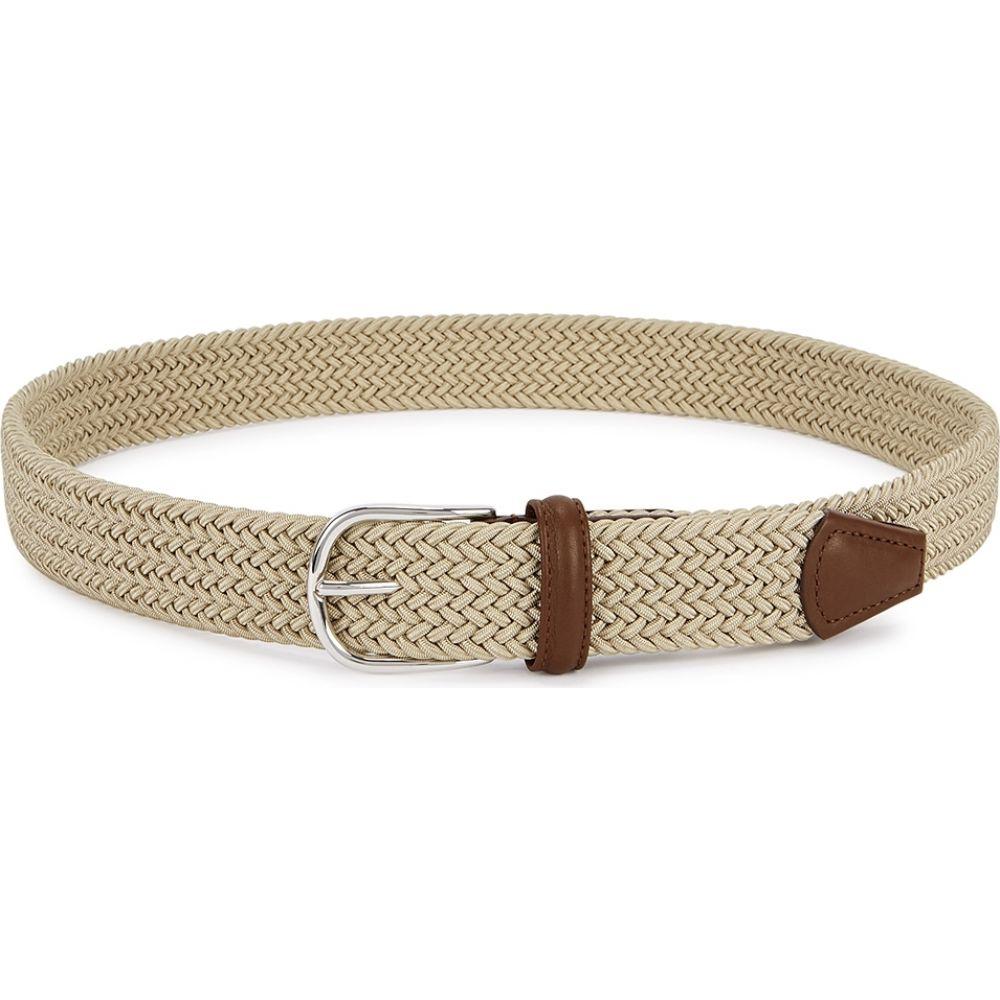 アンダーソンズ Anderson s メンズ ベルト 【stone woven canvas belt】Natural