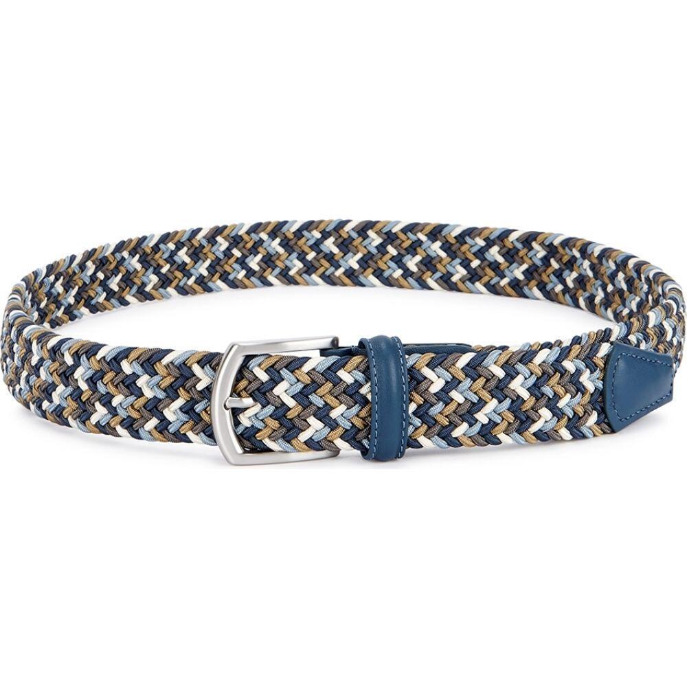 アンダーソンズ Anderson s メンズ ベルト 【woven canvas belt】Blue
