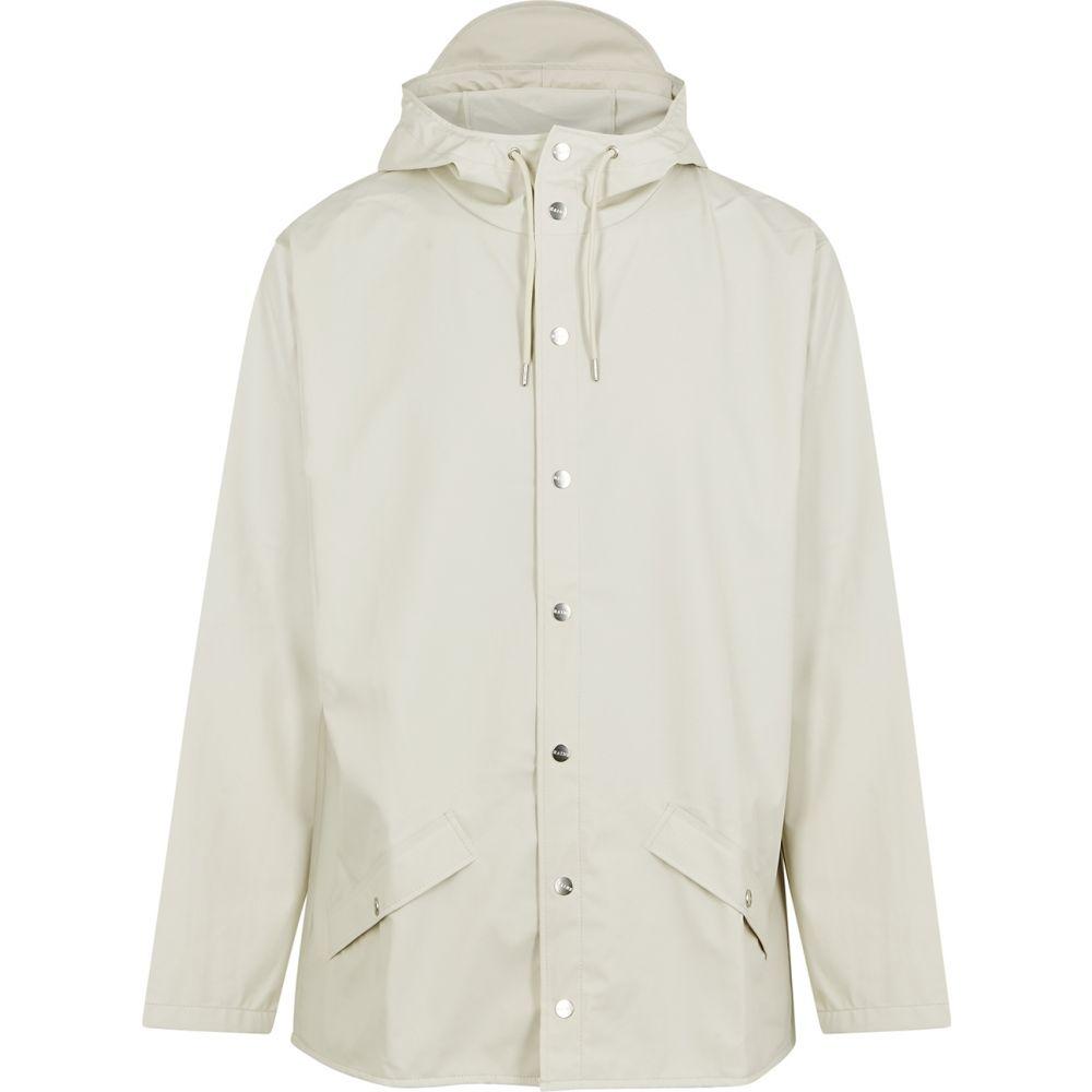 レインズ Rains メンズ レインコート アウター【off-white rubberised raincoat】White