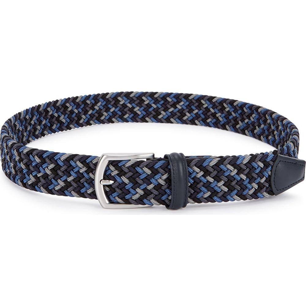 アンダーソンズ Anderson s メンズ ベルト 【woven canvas belt】Navy