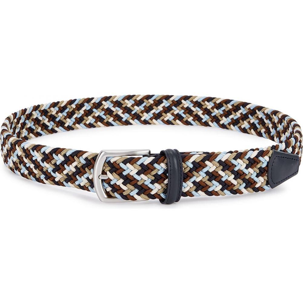 アンダーソンズ Anderson s メンズ ベルト 【woven canvas belt】Brown