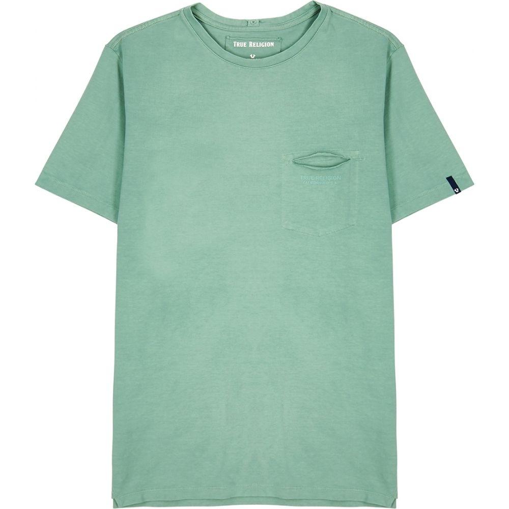 トゥルー レリジョン True Religion メンズ Tシャツ トップス【light green logo cotton t-shirt】Green