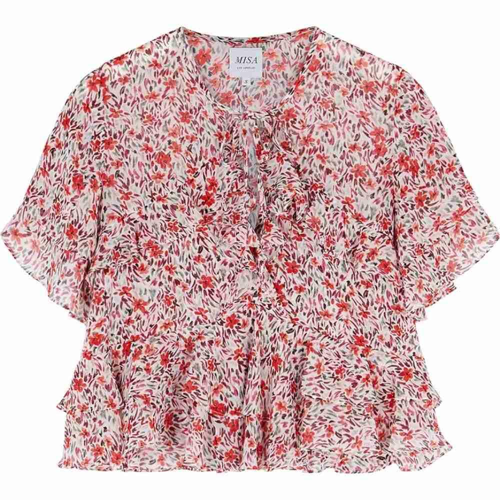 トップス【raziela top】Multi ミサ floral-print レディース chiffon MISA ブラウス・シャツ
