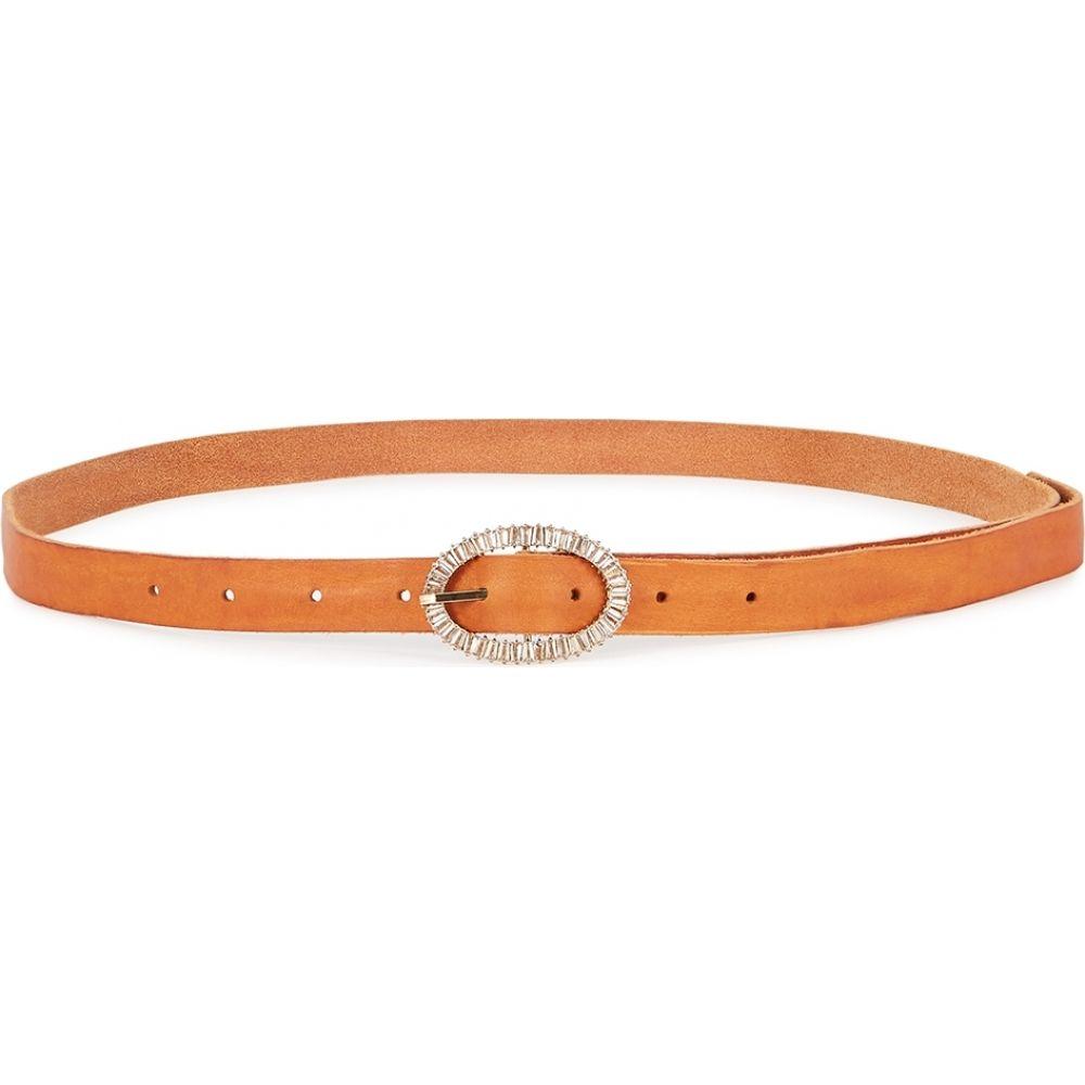 フォルテ フォルテ forte_forte レディース ベルト 【brown crystal-embellished leather belt】Brown