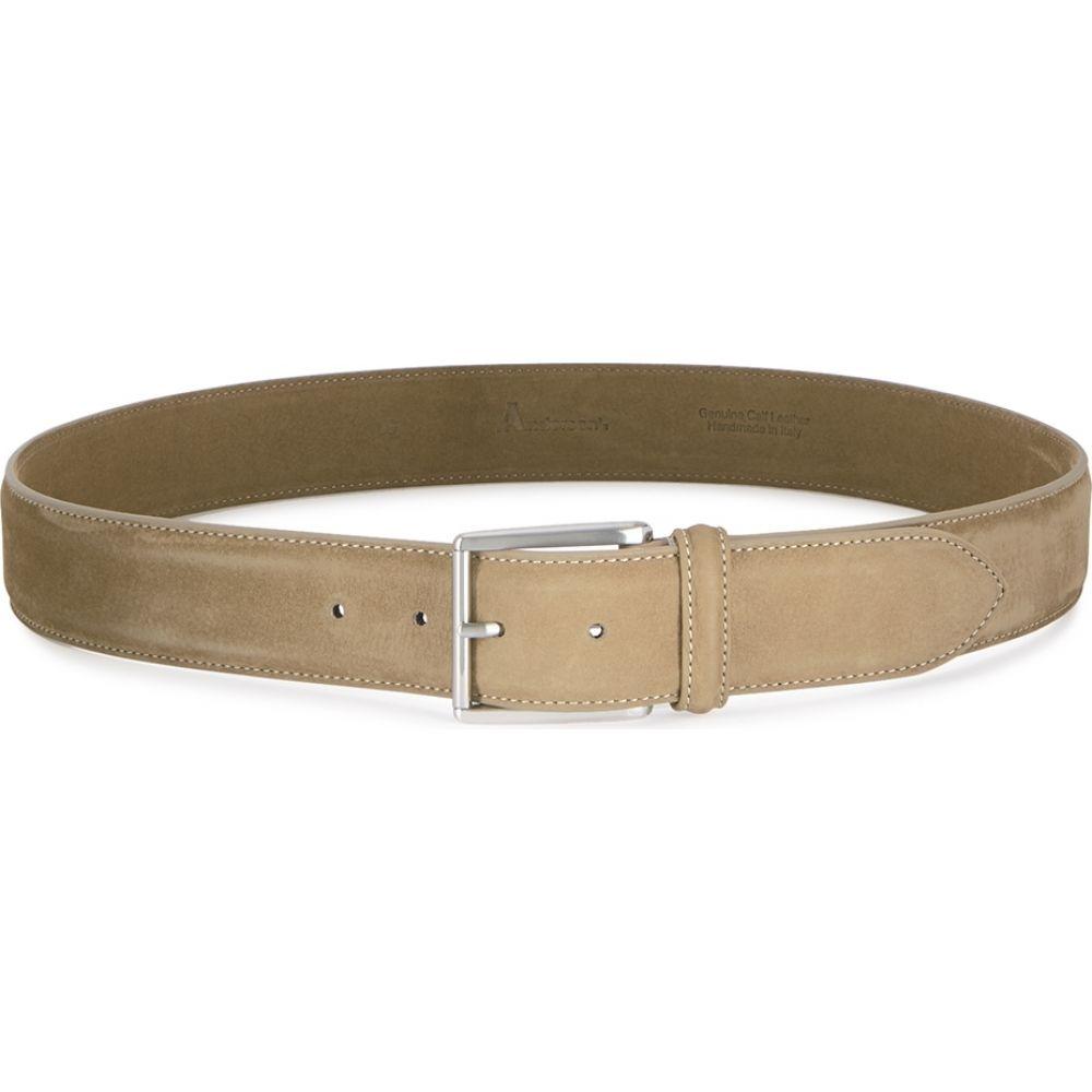 アンダーソンズ Anderson s メンズ ベルト 【taupe nubuck belt】Natural