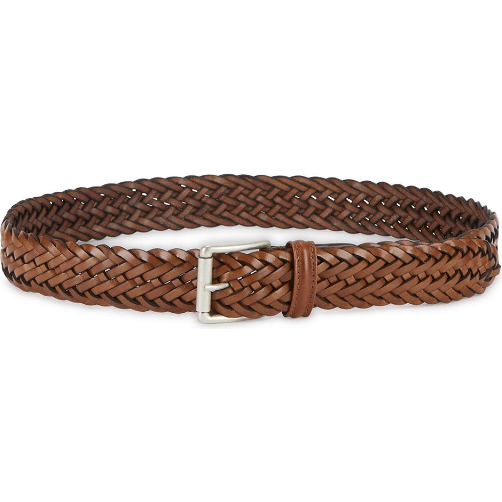 アンダーソンズ Anderson s メンズ ベルト 【brown woven leather belt】Brown