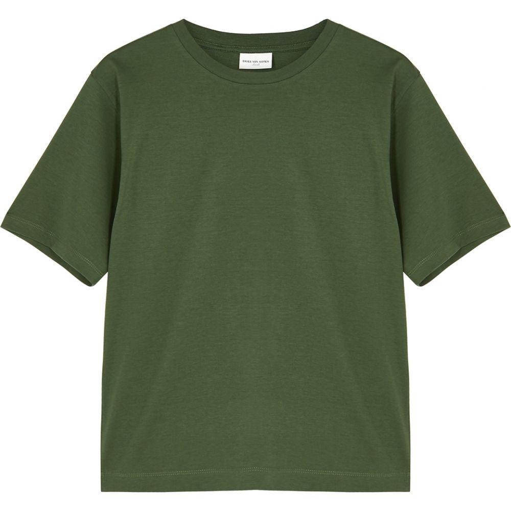 ドリス ヴァン ノッテン Dries Van Noten レディース Tシャツ トップス【hodu army green cotton t-shirt】Green