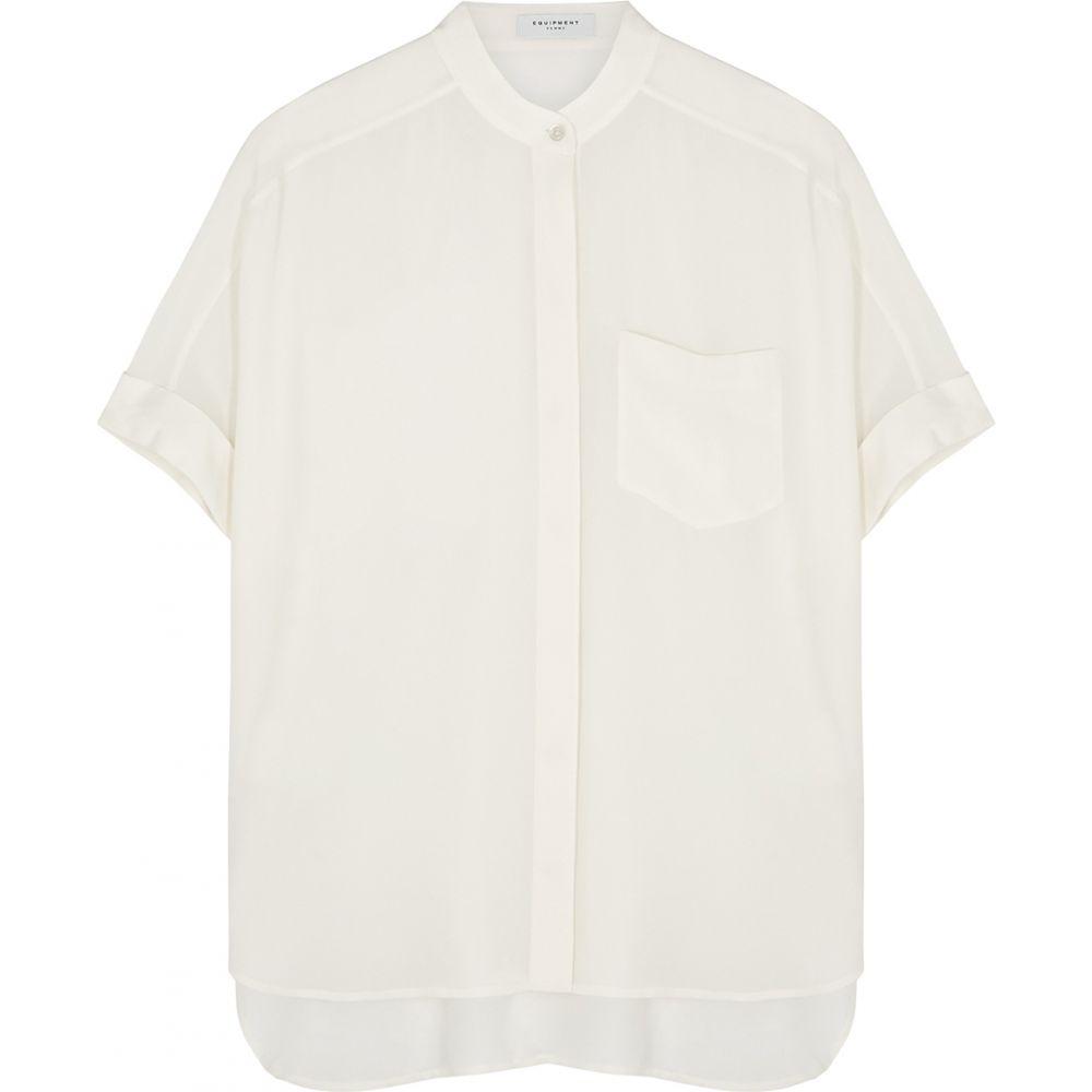エキプモン Equipment レディース ブラウス・シャツ トップス【alvia off-white silk blouse】White