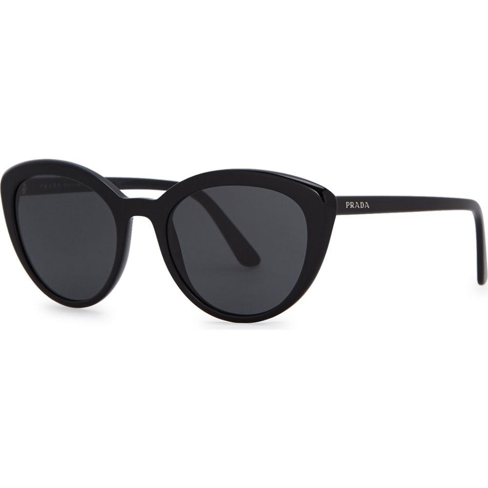 プラダ Prada レディース メガネ・サングラス キャットアイ【black cat-eye sunglasses】Black